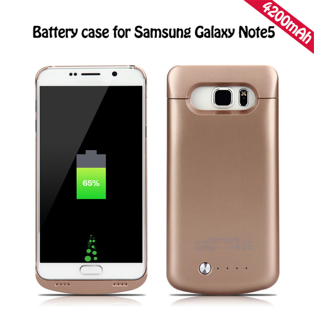 new product c8c2d babc2 US $28.99 |Battery case Portable charger case 4200mAH for Samsung Galaxy  note 5 N9200 power bank case wireless charger cover -in Battery Charger  Cases ...