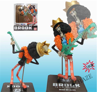 Hot Anime One Piece New World Brook POP Pirate Figure Figurine 7 New In Box