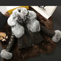 2015 new winter Fox fur Ms Genuine Leather Sheepskin leather Coat JSH537