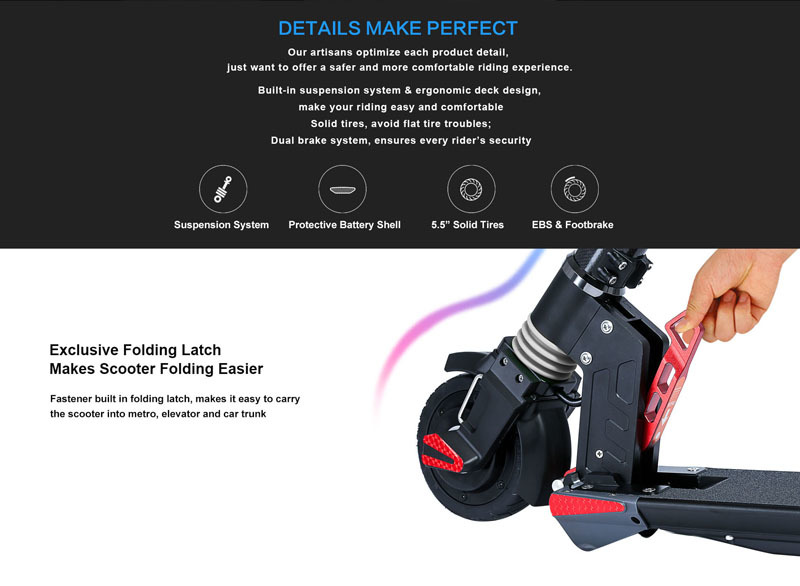 Excellent Dual Motors 2018 New Carbon Fiber Folding Electric Scooter Scooter Skateboard Bicycle Kick Scooter Powerful Electric Bicycle 10