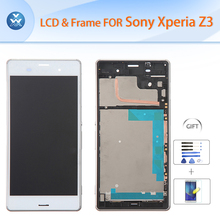For Sony Z3 LCD with frame 5.2″ LCD display touch screen digitizer glass assembly L55T L55U D6603 D6643 D6653 D6633+Tools+Film