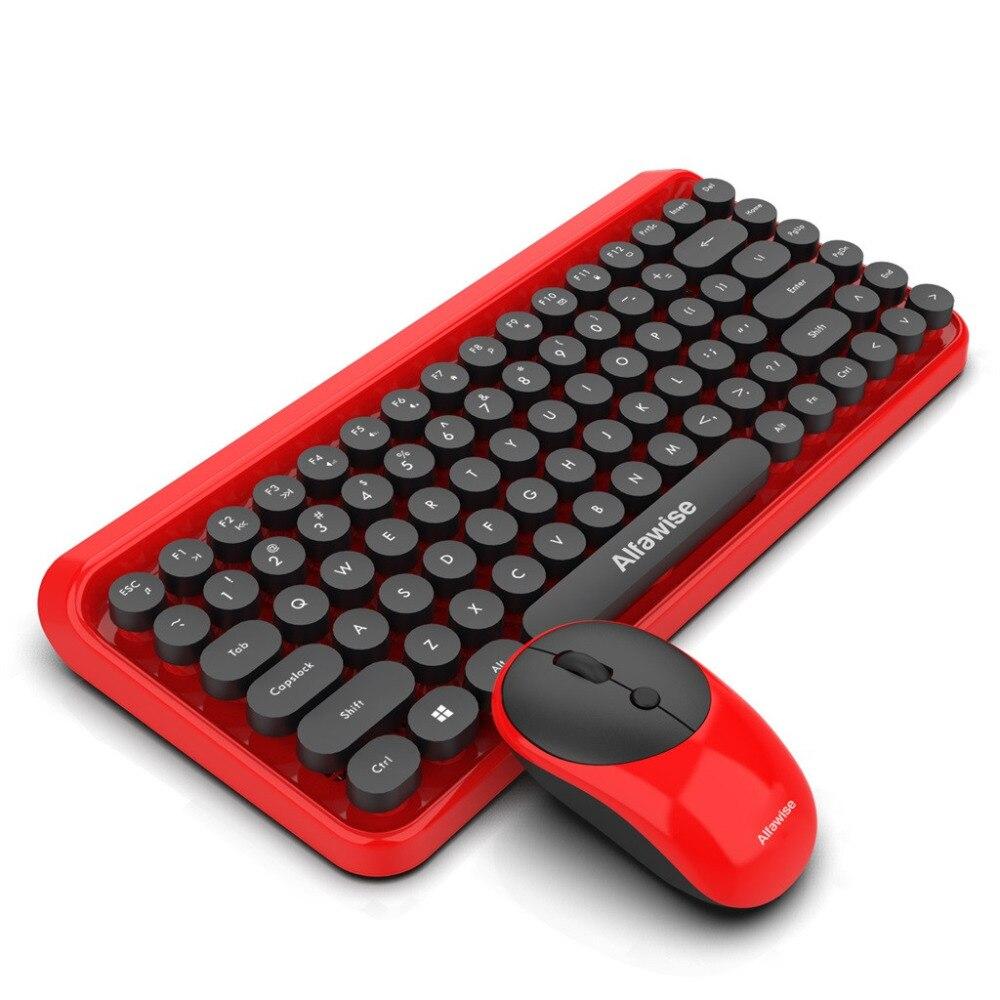 Mode chocolat keycap étanche 2 en 1 rétro Keycap Style 84 touches sans fil clavier + souris pour jeux de bureau rapidement contrôler