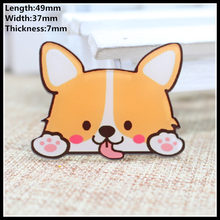 Free shipping 1pcs lovely fox Accessories Fashion cartoon acrylic Brooch Badge Pin Collar brooch Jewelry Gift,Pet cloth(China)