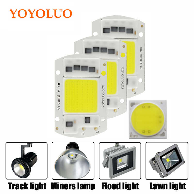 [YOYOLUO] High Power COB LED Lamp Chip 220V Smart IC No Driver COB LED Diode LED Bulb Flood Light Spotlight  5W  20W 30W 50W