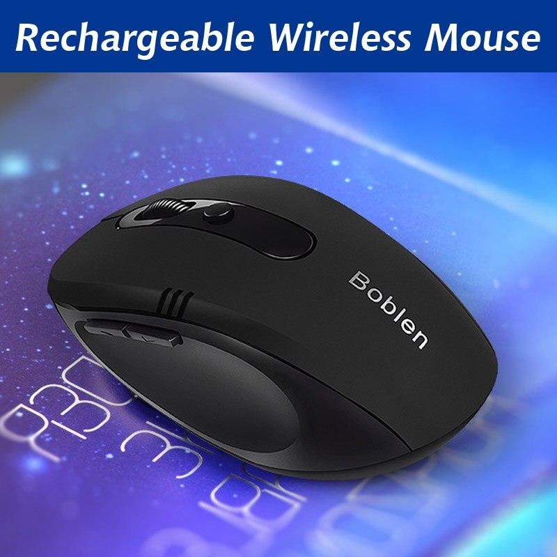2016 Nuevo ratón inalámbrico recargable 6 Botones 2.4 GHz ratón del juego diseño ergonómico USB Ratones para PC portátil silencioso haga clic