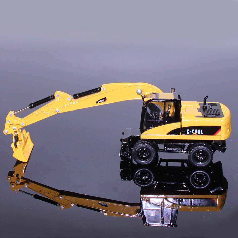 1 Set Dewasa Koleksi 1: 64 OO Skala Wheel Excavator Diecast Skala Model Replika C-COOL04