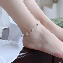 TJP Cute Bells Women Silver Anklets Jewelry Trendy 925 Sterling Bracelets For Girl Party Latest Lady Female Wedding Bijou