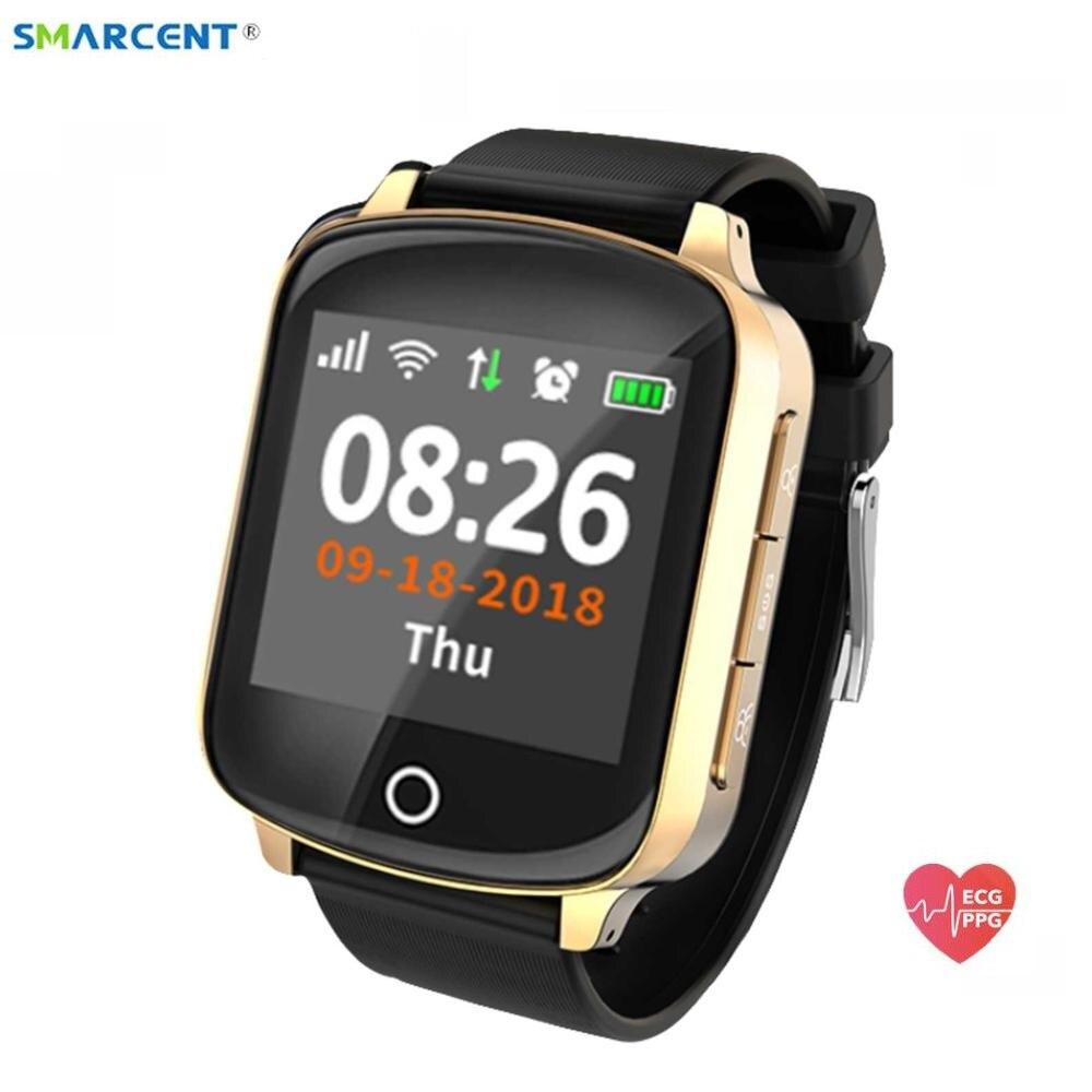 D200 Wifi GPS Tracker Locator Smart Watch for Elder Women Men Smartwatch with SOS Call Heart Rate Blood Pressure pk D100