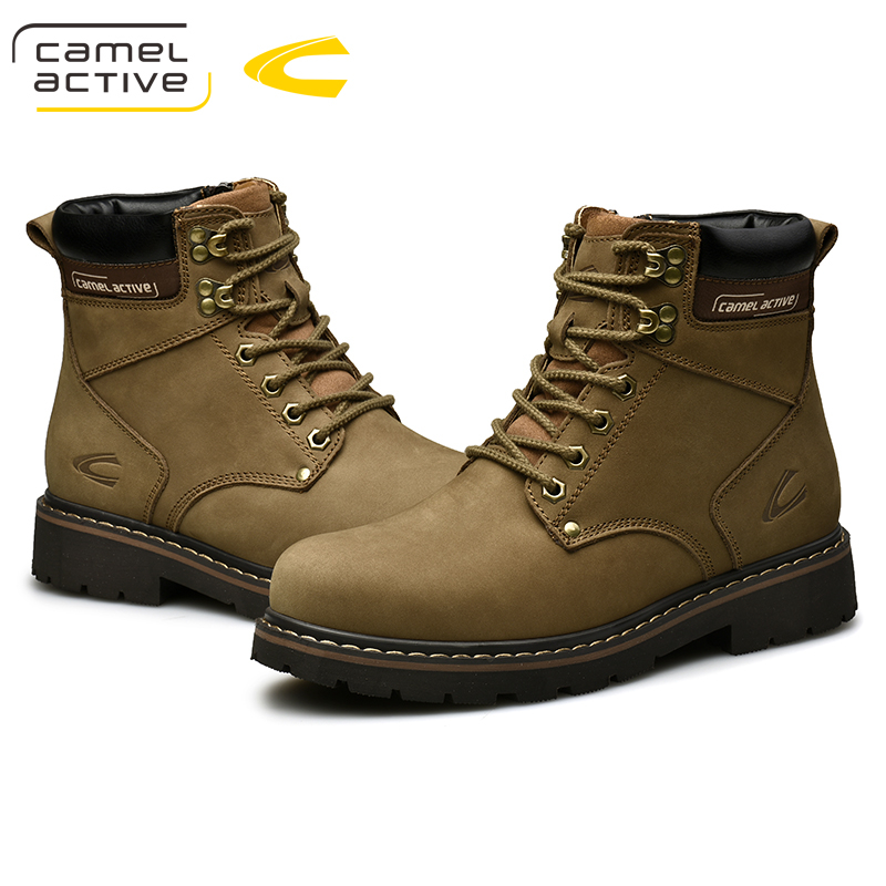 Camel Active Nieuwe Hoge Kwaliteit Enkellaarsjes Voor Mannen Schoenen Outdoor Casual Rijden Paardensport Laarzen Zapatos de Hombre Mannen Laarzen - 4