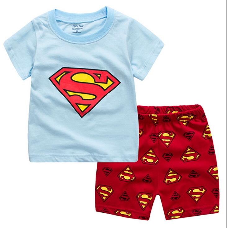 2 Pcs Kids Boys Girls Clothes 2017 Summer Boys Clothing Sports sets Toddler Boy Clothes Children Clothing sets T-shirts+Shorts