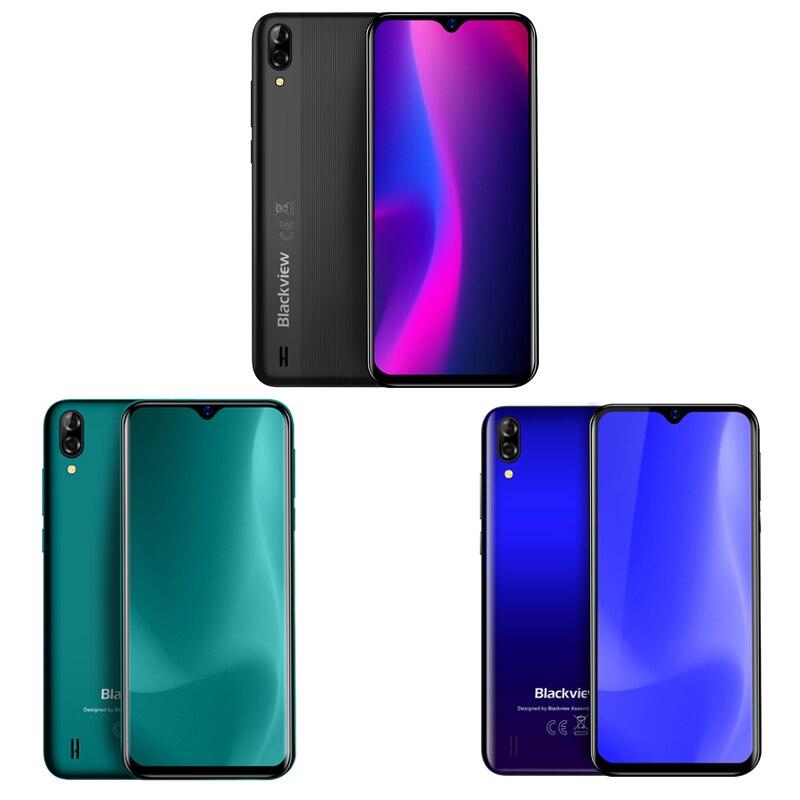 Blackview Original A60 3G Smartphone 19:9 6.1 pouces Android téléphone portable 4080mAh batterie 1GB 16GB ROM téléphone portable 13MP + 5MP double SIM - 6