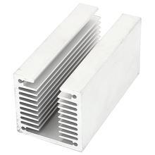 Горячий-1 х серебристо-алюминиевый радиатор U 80*40*40 мм