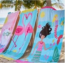 160X80cm thicken beach towel with rainbow horse or seahorse reactive print children big size 100% cotton bath T250