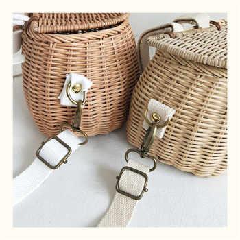 Small big Back Basket Children Bicycle Basket Handmade Tattan bag Basket kid\'s backpack