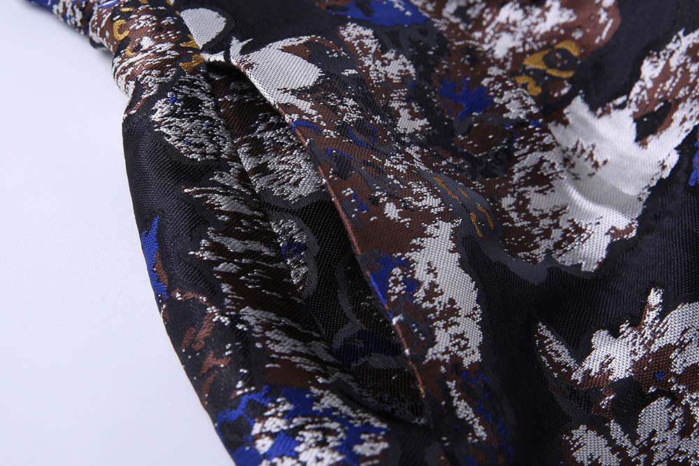Banlieue Longues Nouveau Plus Britannique Femmes De Ol cou Jacquard Manteau 2017 Taille La vent long Automne Coupe Trecnch Noir O Manches Luxe À X Floral x1pwqxY5OT