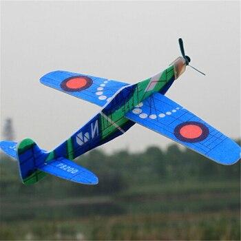 Random Color 1PCS 19cm Hand Throw Flying Glider Planes EPP Foam Airplane Mini Drone Aircraft Model T