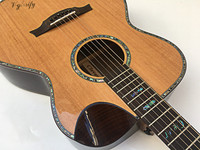 40inch high grade red cedar top acoustic guitar with radian corner