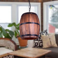 LukLoy LED American Country Pendant Light Retro Restaurant Coffee Living Room Bar Decorative Dining Room Hanging Lamp Retro