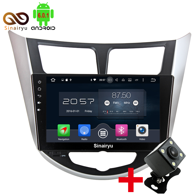 2G 16G 2 Din Android 6 0 Car Dvd For Hyundai Solaris Accent Verna 2011 2013