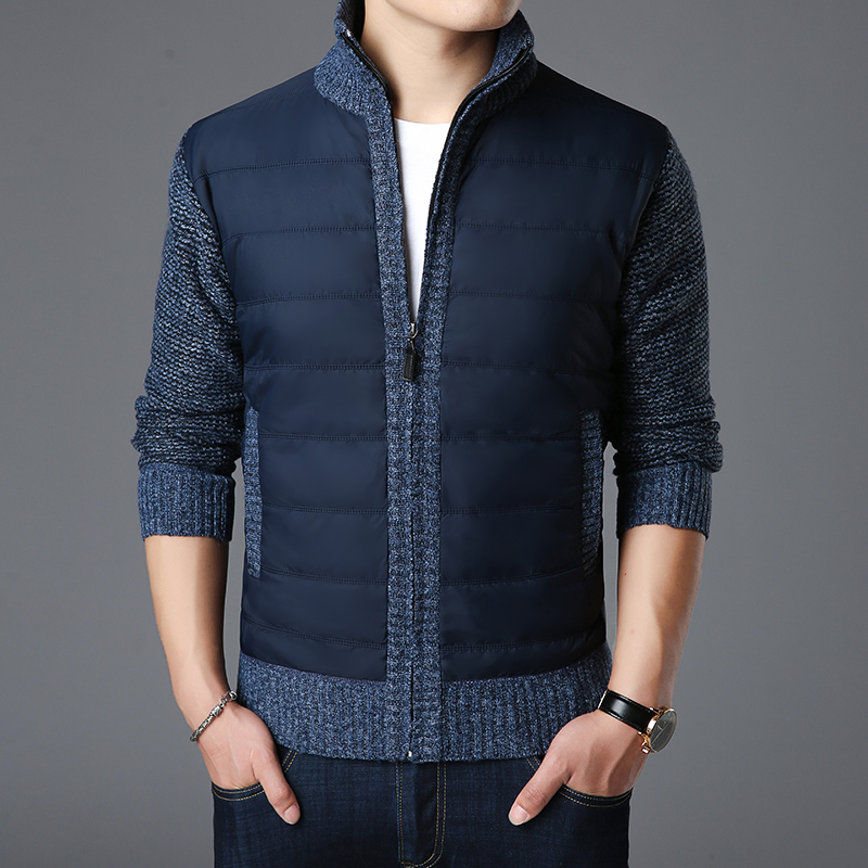2018 New Fashion Brand Sweater Men Kardigan Zipper Slim Fit Jumpers Knitting Thick Warm Autumn Korean Style Casual Men Clothes