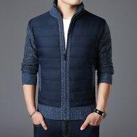2019 новый модный бренд свитер для мужчин Kardigan на молнии зауженный Джемперы вязание толстый теплый Осень корейский стиль повседневное мужска...