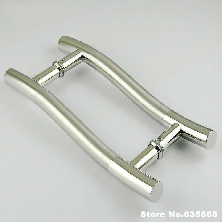 Modern Stainless Steel Glass Door Handle S Shape Wooden Aluminum Pull Door  Decoration Shake Handshandle Hardware Accessories In Cabinet Pulls From  Home ...