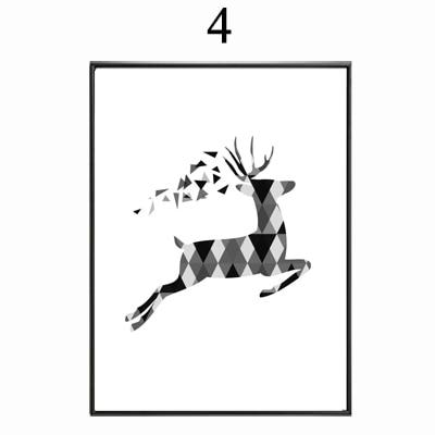 Super Abstrait Minimaliste Symbole Toile Peinture Noir Blanc Nordique  XA26