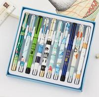 Ten pcs fountain pens primary school students use cartoon characters to write calligraphy children's set of pens