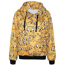 High Quality Adventure Time Jake Dog 3D Printed Women Hoodies With Pocket Casual Long Sleeve Blouse Tops Fashion Women Tracksuit