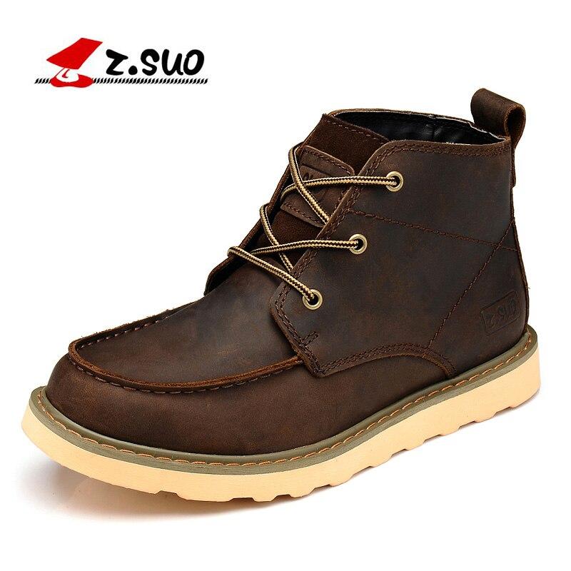 Z. bottes de Suo hommes, bottes en cuir mâle qiu dong saison, cylindre dans les loisirs de mode Homme bottes, Botas DE cuero Homme zs088