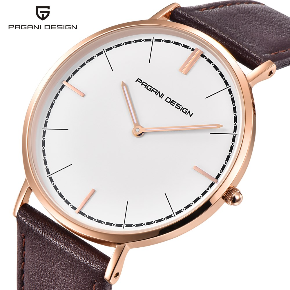 PAGANI DESIGN Luxury Brand Fashion Lover Watch Reloj Mujer Men Women Leather Waterproof Quartz Watches Clock Relogio Feminino купить в Москве 2019