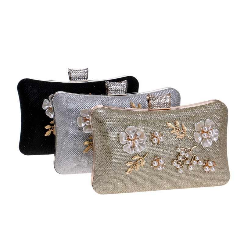 SEKUSA, модные, новые, женские клатчи, жемчужные, бриллиантовые, вечерние сумки, на цепочке, на плечо, с блестками, черные, серебряные, золотые, свадебные сумочки