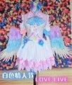 LoveLive! белый День Нико Yazawa Косплей Костюм Любовь в Прямом Эфире Равномерное Костюм Японского Аниме Одежды Топ и Юбка и Головной Убор