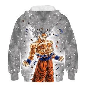 Image 2 - 드래곤 볼 까마귀 캐주얼 애니메이션 Goku 인쇄 빅 걸스 소년 후드 키즈 가을 아우터 긴 소매 아동 풀오버 스웨터