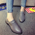 Women Casual Flats Ankle Boots Oxford Low Square Heel High Quality Buckle Strap Pointed Toe Woman 2016 New Fashion Autumn Shoes