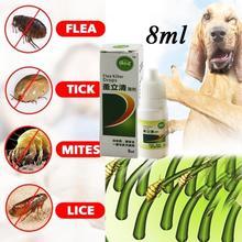 8ml Topical Pets Dog Cat Anti-flea Drops Insecticide Flea Lice Insect Killer Liquid Set alobon 8ml
