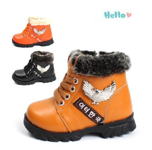 Free shipping 2016 New Coming Kids Children's Winter Cotton Shoes Warm Baby Boy Cotton-padded Shoes Winter Bota Eagle
