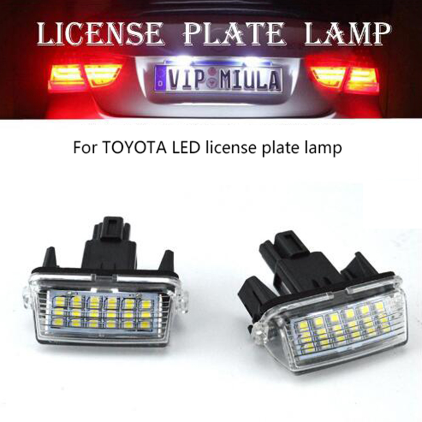 2X LED License Plate Number Lights Car Lamp For Toyota Camry/YARIS/ EZ/VIOS