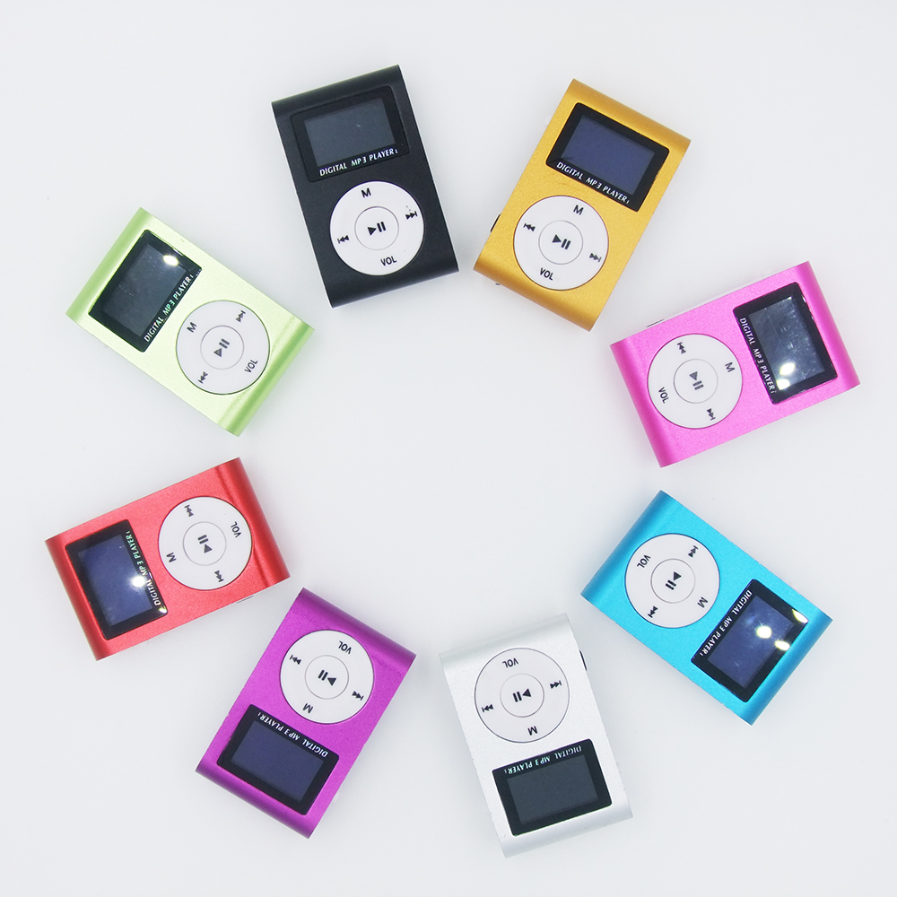 MP3 Music Player with 8GB Micro SD memory Card Mini Clip Rechargeable USB mymei ortable shiny mini usb clip lcd screen mp3 media player support 16gb micro sd card sports metal mp3 music player mp3 wma