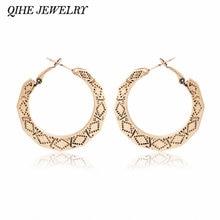 Qihe ювелирные изделия серьги кольца древнее золото Цвет: старое