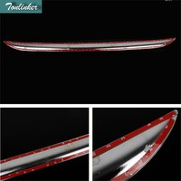 Tonlinker 1 PCS DIY Car Styling New ABS Chrome With Logo Rear Bumper Light Strip Case stickers For TOYOTA Corolla Altis 2014