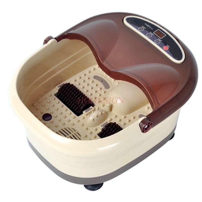 все цены на Electric Feet Cleansing Foot Bath Leg Massager Footbath Electronic Heating Barrel Massage Machine Home Thermostat Hot Sale онлайн