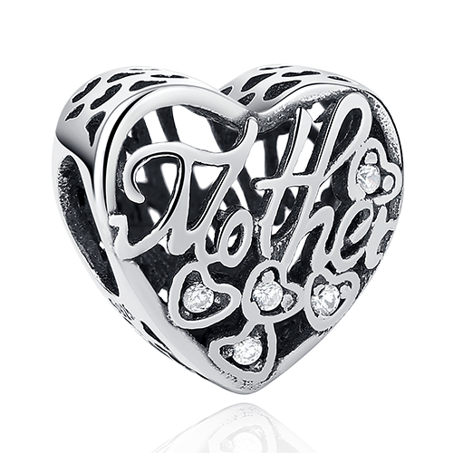 DIY Серебряный Шарм подходят Pandora браслет Бусины стерлингового серебра 925 Любовь мотаться Шарм crystal сердце, цветок, башня, дерево из бисера - Цвет: PY1392