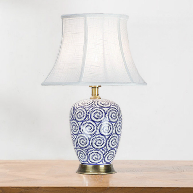High end chinese blue and white porcelain ceramic e27 - Porcelain table lamps for living room ...
