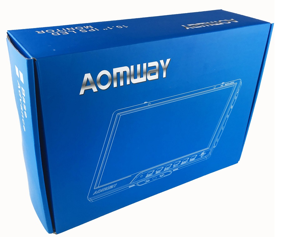 FPV Aomway 10 Inch Monitor 5.8G 64CH Diversity HD588 v2 HD Monitor 1920 x1200 with DVR Build in Battery For racing droneParts & Accessories   -