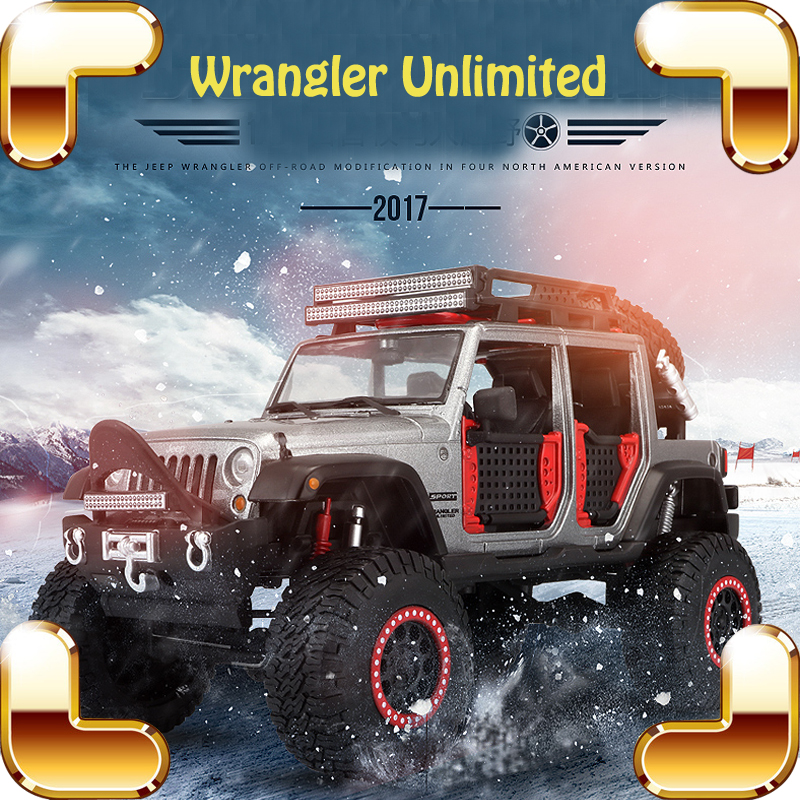 New Arrival Gift Wrangler 1/24 Metal Model SUV Big Vehicle Decoration Toys Car Collection Diecast Toy Metallic Alloy Present 1 18 all new jeep wrangler willys 2017 cabrio off road vehicle suv alloy toy car
