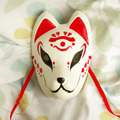 Full Face Hand-Painted Japanese Fox Mask Kitsune Hoozuki no Reitetsu Hakutaku Cosplay Masquerade for Party Carnival Halloween