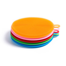 Home Silicone Kitchen Cleaning Pad Clean Sponge Brush Bathroom Gadget Creative Accessories Tools