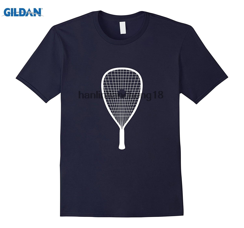 GILDAN 2018 Racquetball ball and racquet T-Shirt Sported Balls Racquet Racket Strings Gift birthday funny