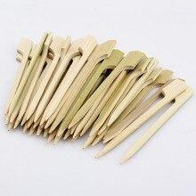 Одноразовые 40 шт 10,5 см бамбуковые палочки шампура для барбекю гриль кебаб барбекю коктейль напиток мешалки фрукты зубочистки открытый инструмент